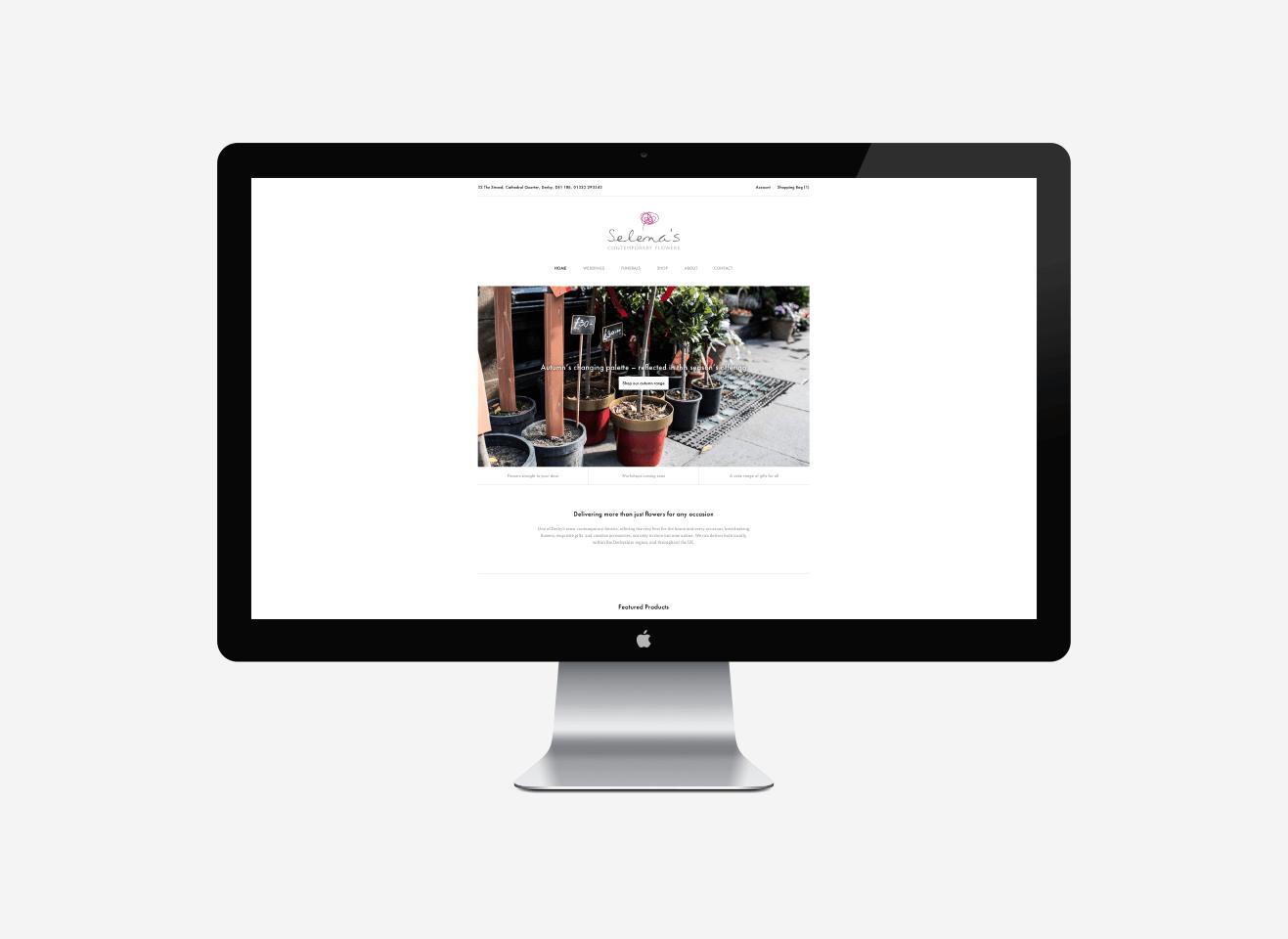 Selena's Contemporary Flowers Web Design