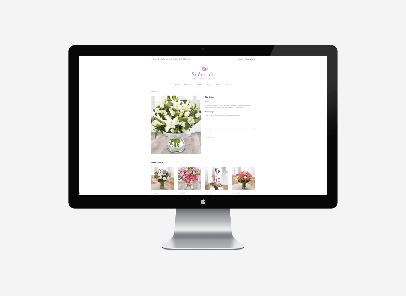 Selena's Contemporary Flowers Responsive Web Design